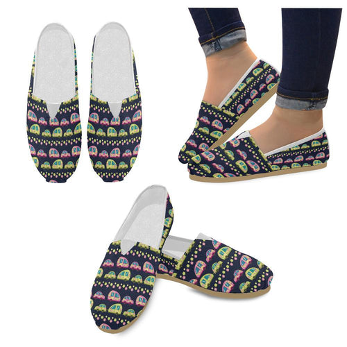 Camper Cute Camping Design No 3 Print Women Casual Shoes-JorJune.com