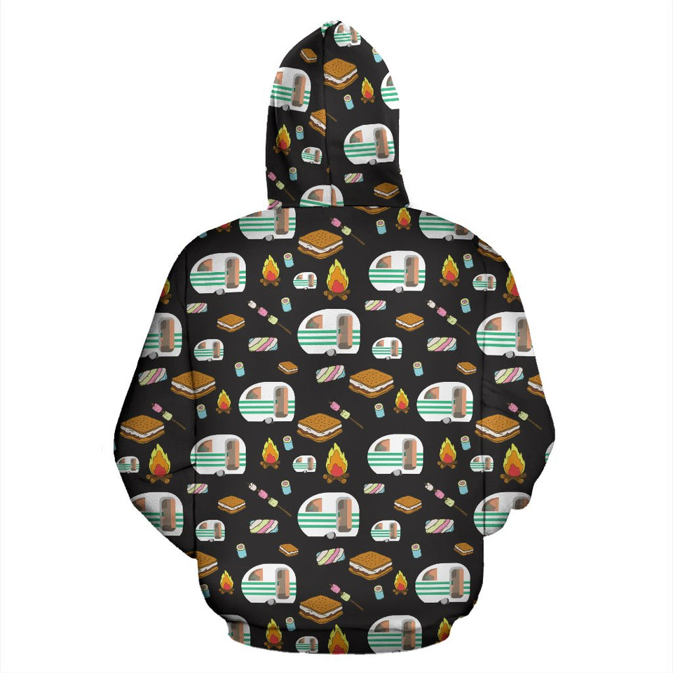 Camper marshmallow Camping Design Print Pullover Hoodie