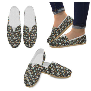 Camper marshmallow Camping Design Print Women Casual Shoes-JorJune.com