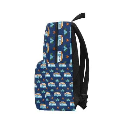 Camper Pattern Camping Themed No 3 Print Unisex Nylon Backpacks-JorJune