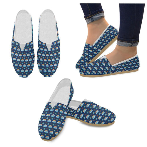Camper Pattern Camping Themed No 3 Print Women Casual Shoes-JorJune.com