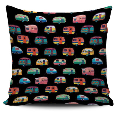 Camper Throw Pillow Cover