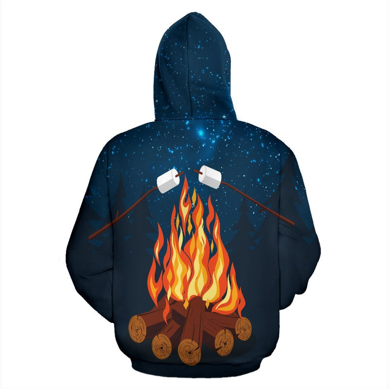 Campfire Camping Pullover Hoodie