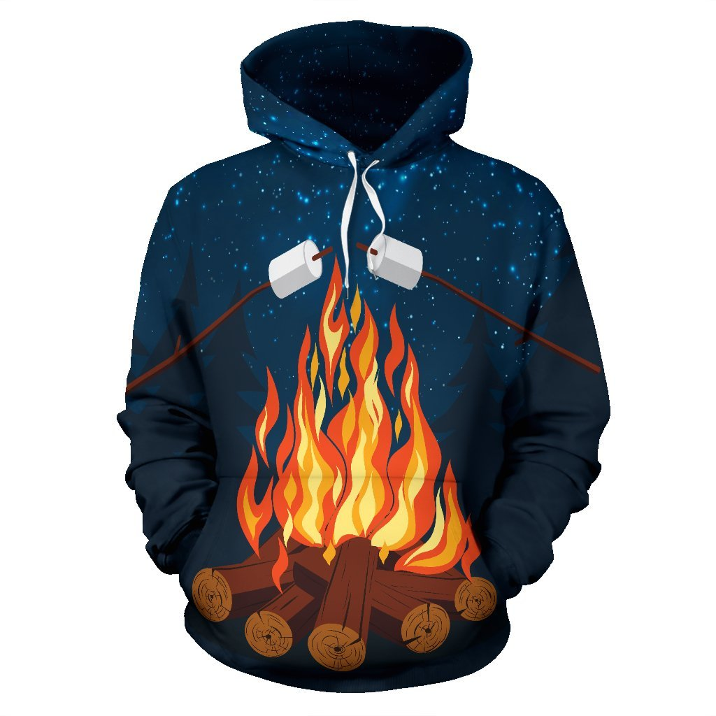 Camping All Over Print Hoodie