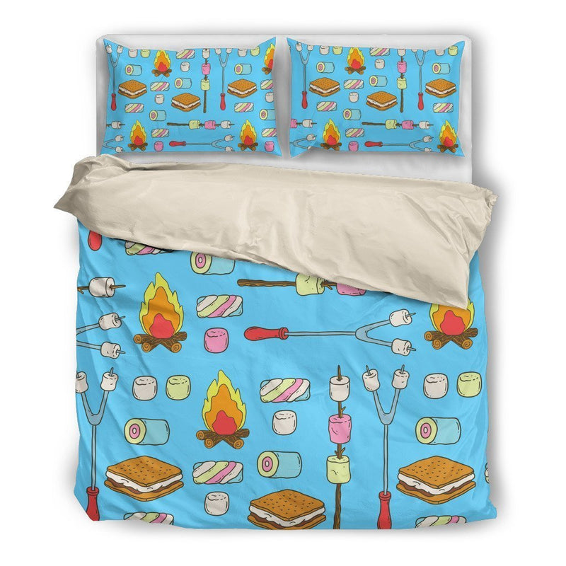 Marshmallows Campfire Duvet Cover Bedding Set