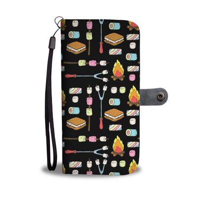 Camping Marshmallows Campfire Wallet Phone Case