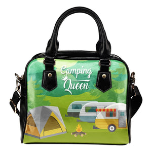 Camping Queen Leather Shoulder Handbag