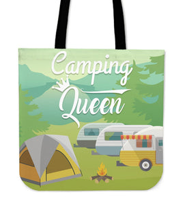 Camping Queen Tote Bag