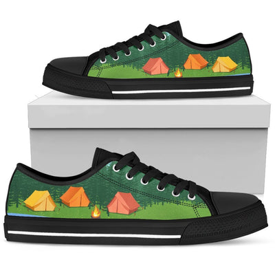Camping Tent Women Low Top Canvas Shoes