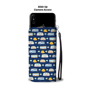 Camping Time camper tent Wallet Phone Case