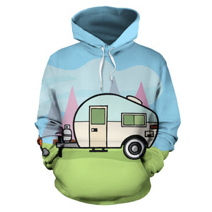 Camping with Camper Design All Over Print Hoodie