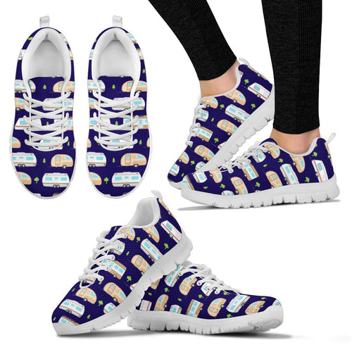 Camping with Campers no1 Print Design Women Sneakers Shoes
