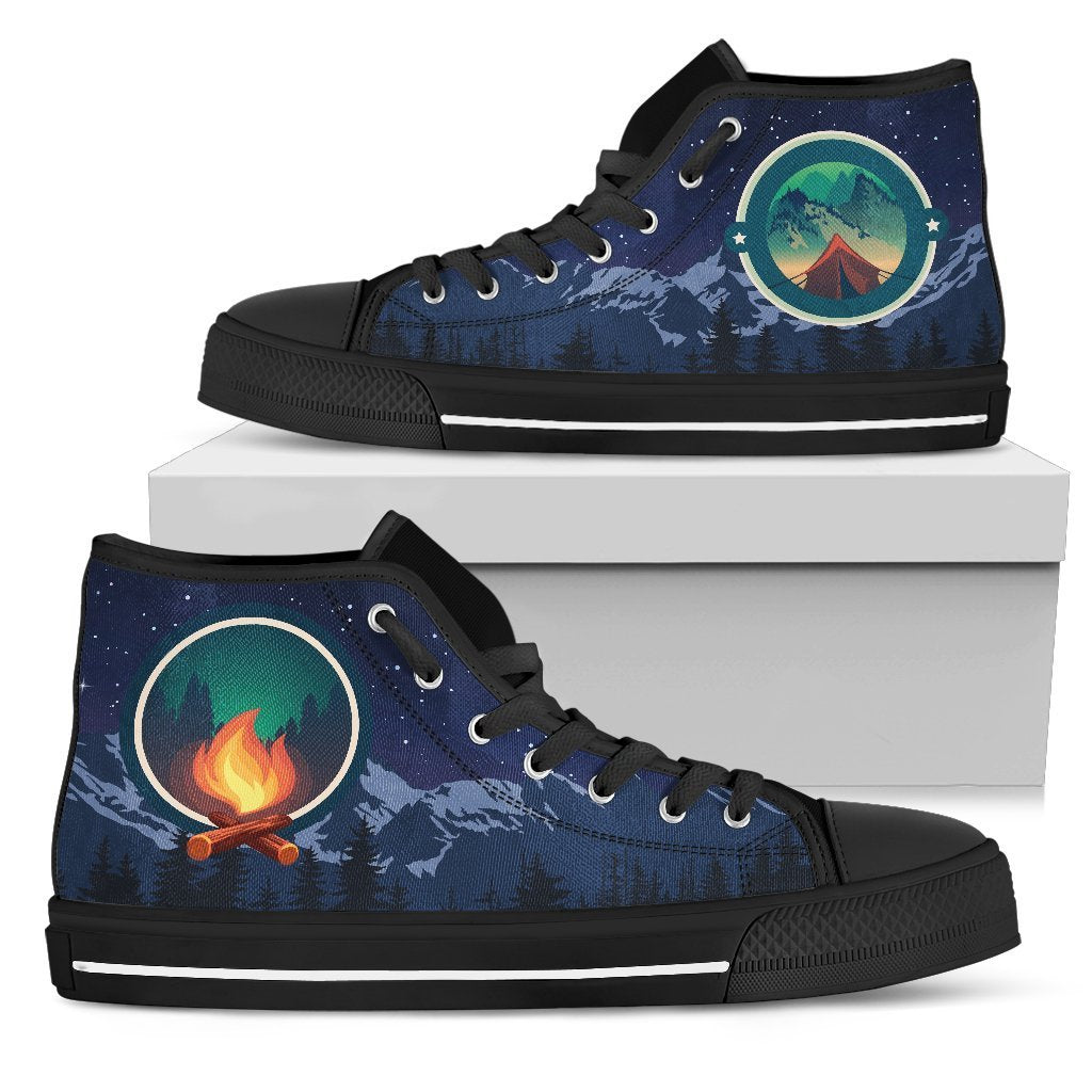 Camping Women High Top Canvas Shoes