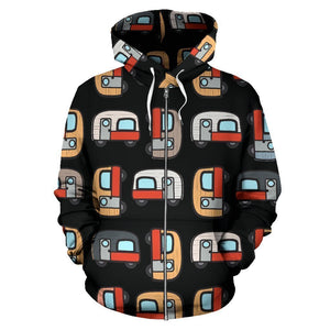 Caravan Camper Camping Women Men Zip Up Hoodie
