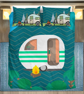 Caravan Camper Duvet Cover Bedding Set