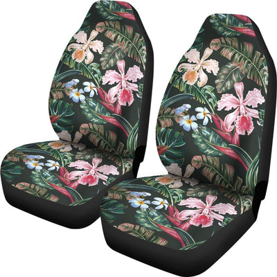 Cattleya Hawaiian Flower plumeria Universal Fit Car Seat Covers