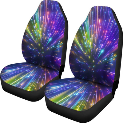 Celestial Rainbow Speed Light Universal Fit Car Seat Covers