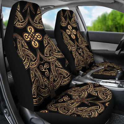 Celtic Knot Gold Design Universal Fit Car Seat Covers