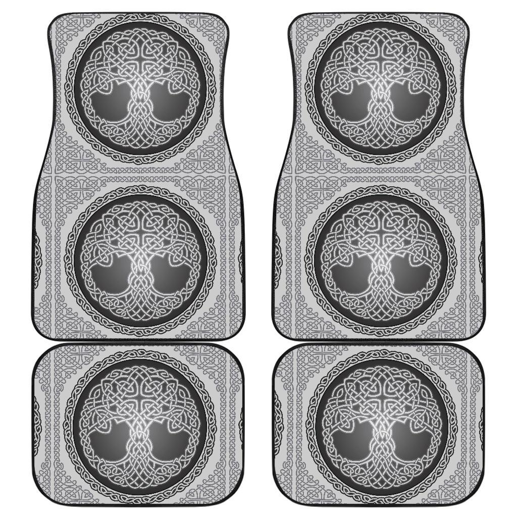 Celtic Tree of life Print Front and Back Car Floor Mats