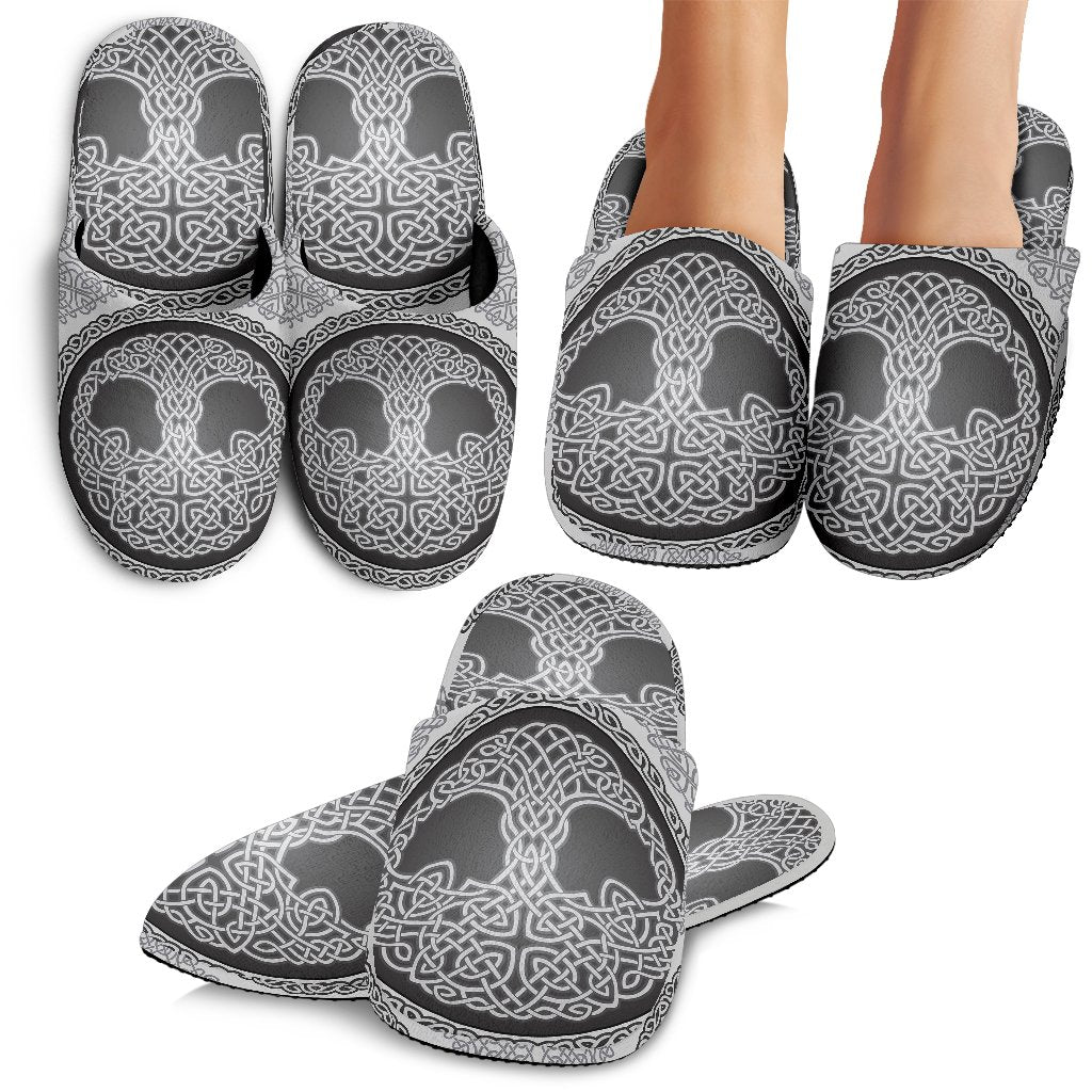 Celtic Tree Of Life Print Slippers