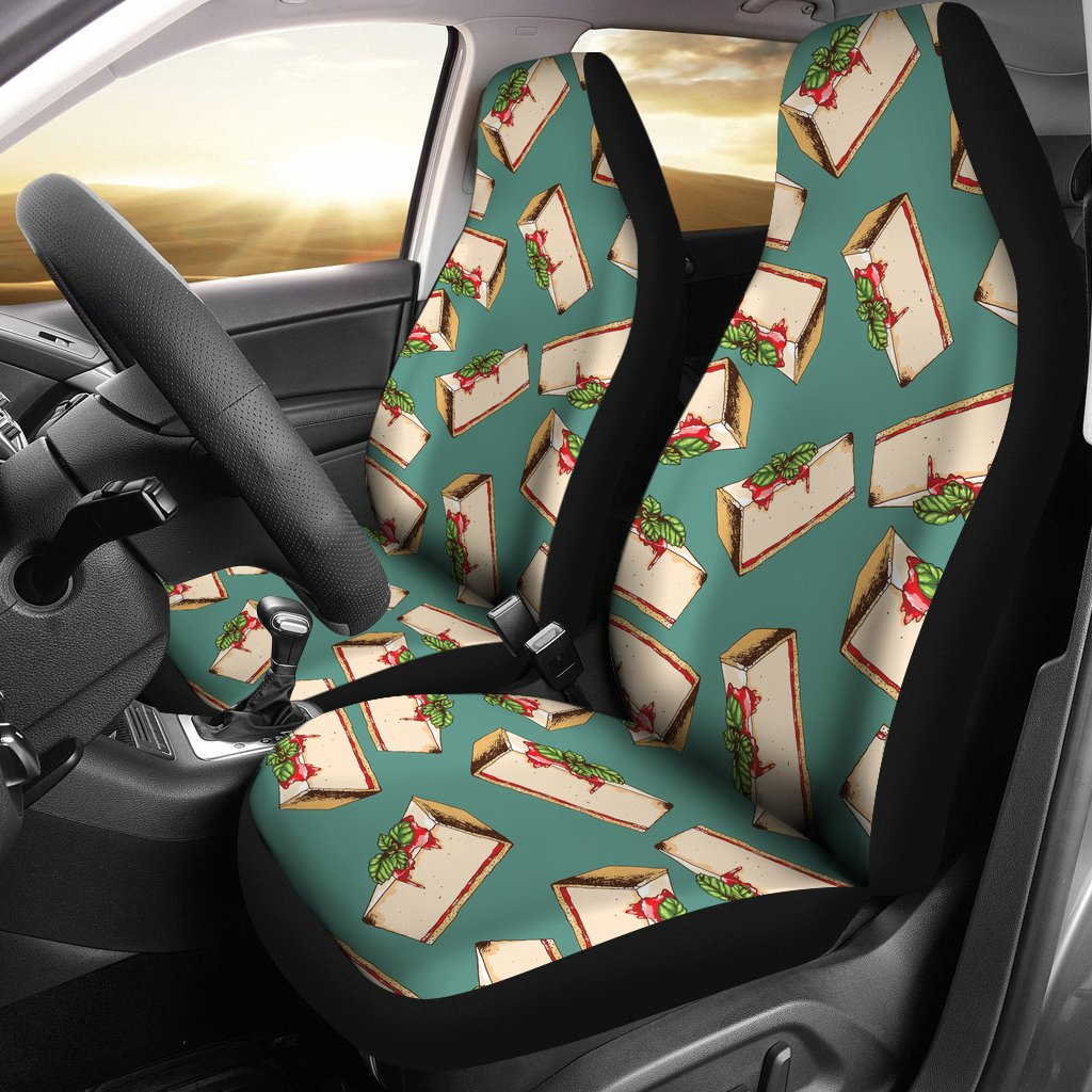 Cheesecake Pattern Print Design CK02 Universal Fit Car Seat Covers