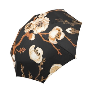Cherry Blossom Automatic Foldable Umbrella