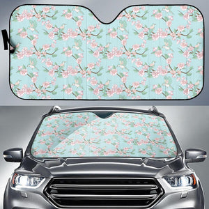 Cherry Blossom Pattern Print Design 02 Car Sun Shade-JORJUNE.COM