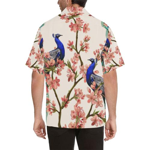 Cherry Blossom Peacock Men Hawaiian Shirt