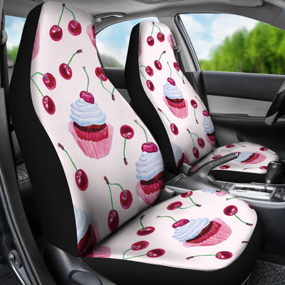 Cherry Cupcake Pink Pattern Universal Fit Car Seat Covers