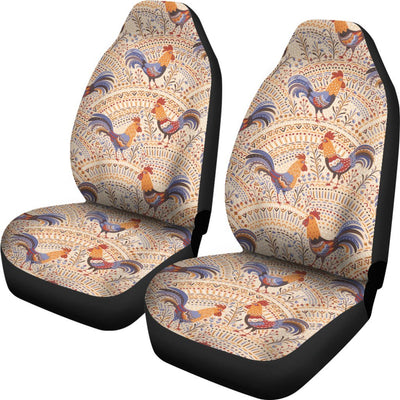 Chicken Boho Style Pattern Universal Fit Car Seat Covers