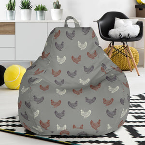 Chicken Pattern Print Design 01 Bean Bag Chair-JORJUNE.COM