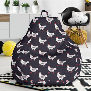 Chicken Pattern Print Design 03 Bean Bag Chair-JORJUNE.COM