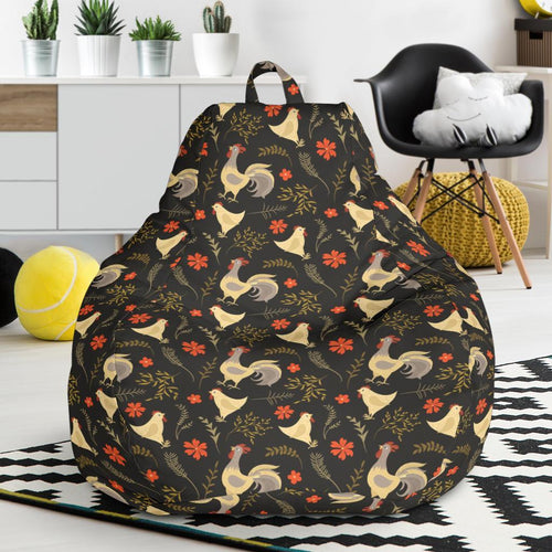 Chicken Pattern Print Design 04 Bean Bag Chair-JORJUNE.COM