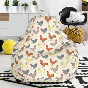 Chicken Pattern Print Design 05 Bean Bag Chair-JORJUNE.COM