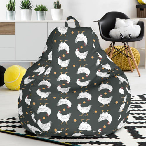 Chicken Pattern Print Design 06 Bean Bag Chair-JORJUNE.COM