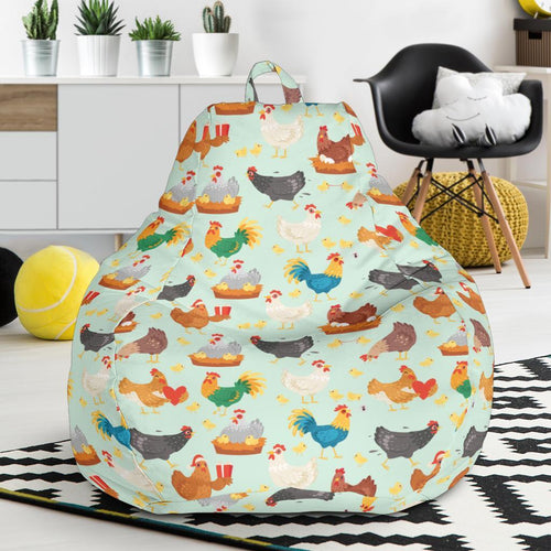 Chicken Pattern Print Design 07 Bean Bag Chair-JORJUNE.COM