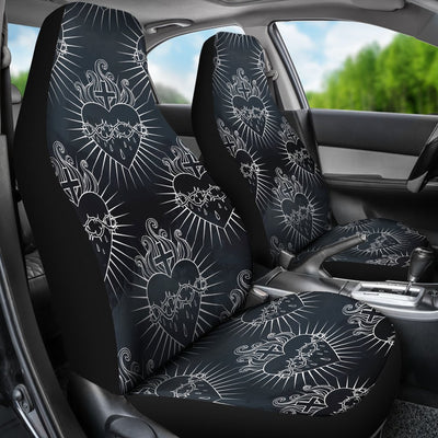 Christian Heart Tattoo Style Universal Fit Car Seat Covers