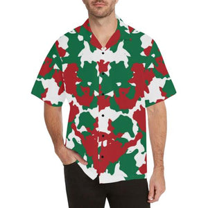 812a0acf Christmas Color Camo Print Men Aloha Hawaiian Shirt – JorJune