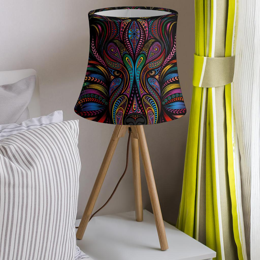 Colorful Art Wolf Drum Lamp Shade-JORJUNE.COM