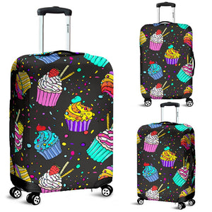 Colorful Cupcake Pattern Luggage Cover Protector