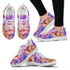 Colorful Geranium Floral Pattern Women Sneakers