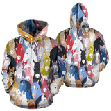 Colorful Horse Pattern All Over Print Hoodie