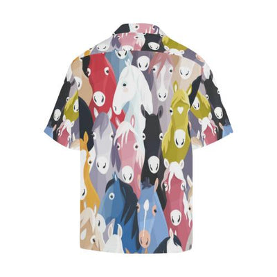 Colorful Horse Pattern Men Hawaiian Shirt