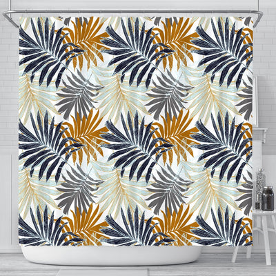 Colorful Tropical Palm Leaves Shower Curtain
