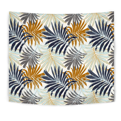 Colorful Tropical Palm Leaves Wall Tapestry