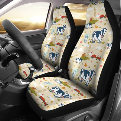 Cow Farm Design Print Universal Fit Car Seat Covers