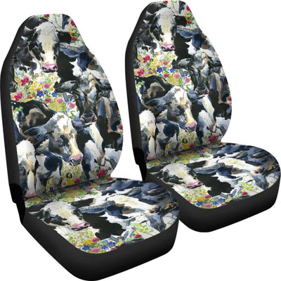 Cow Watercolor Print Pattern Universal Fit Car Seat Covers