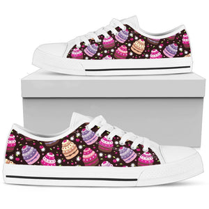 Cupcake Print Men High Top Canvas Shoes