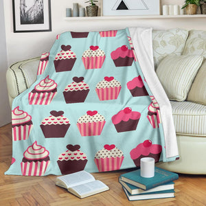 CupCake Print Pattern Fleece Blanket