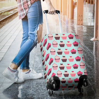 CupCake Print Pattern Luggage Cover Protector